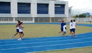 pista de atletismo do GEO Pedra de Guaratiba (Foto: Divulgação SME)